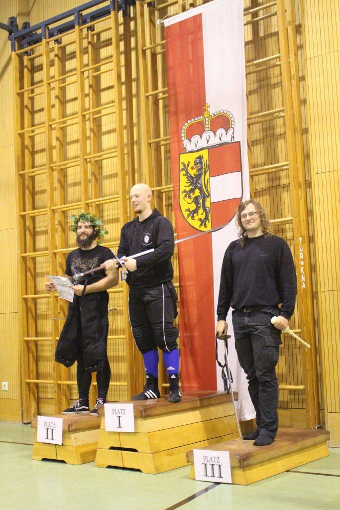 Bastin Tilgner gewinnt die Salzburger Landesmeisterschaft im Langen Schwert