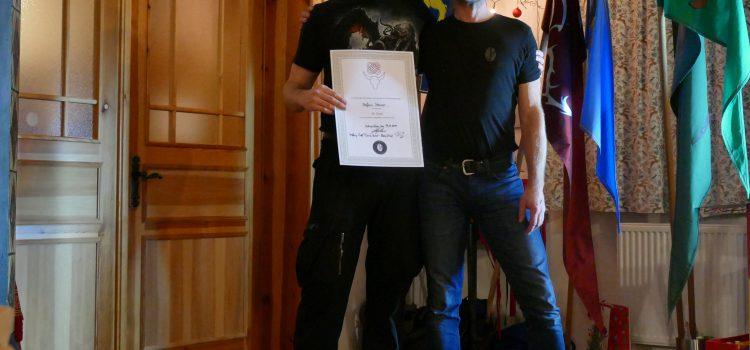 Unser Bogentrainer Stefan Steiner erhält den 9.Grad